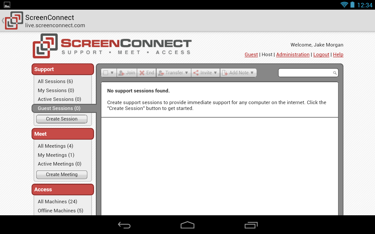 ScreenConnect Legacy- screenshot