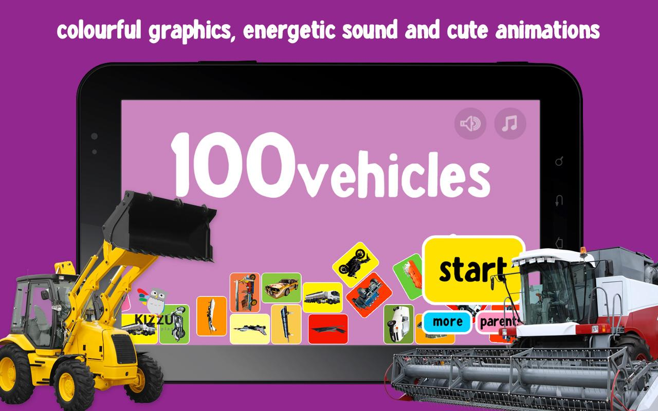 100 Vehicles Words for Babies - screenshot