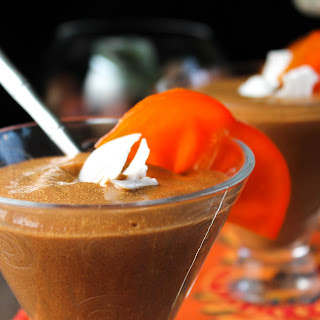 Paleo Pumpkin Persimmon Smoothie or Pudding