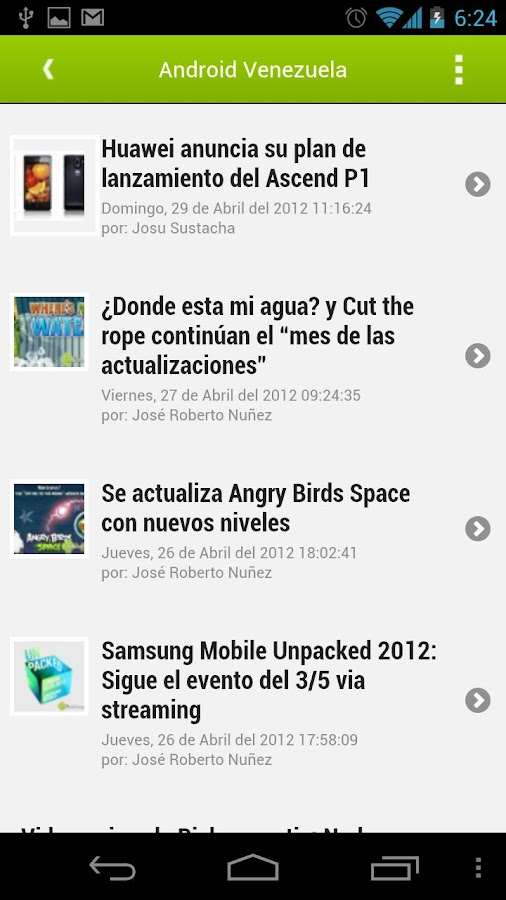 ADVzla Reader - screenshot