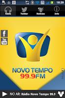 Screenshot of Rádio Novo Tempo 99.9 FM