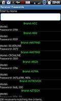 Screenshot of Receiver Passwords