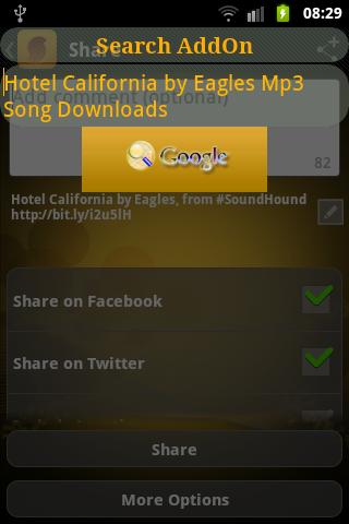 SoundHound Plugin - screenshot