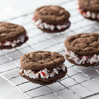 Triple Chocolate-Peppermint Sandwich Cookies.