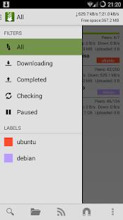 tTorrent Lite - Torrent Client - screenshot thumbnail