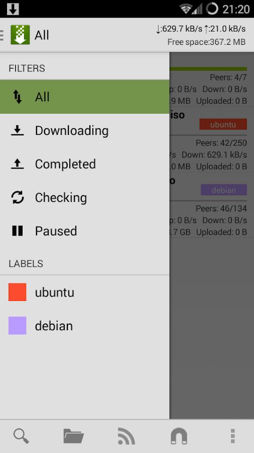 tTorrent Lite - Torrent Client - screenshot