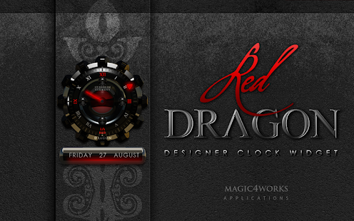 clock widget Red Dragon