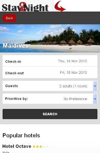Maldives Hotel finder