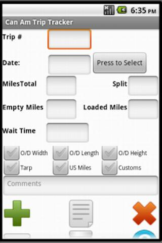 Can Am Trip Tracker- screenshot