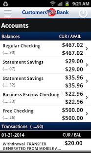 Customers Bank Mobile Banking - screenshot thumbnail
