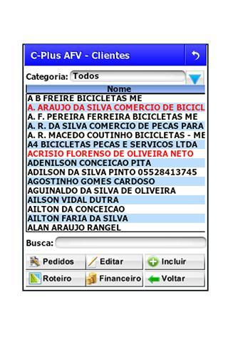 C-Plus AFV - Força de Vendas - screenshot