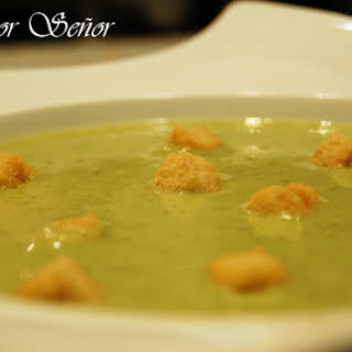Creamy Broccoli and Gorgonzola Cheese Soup.