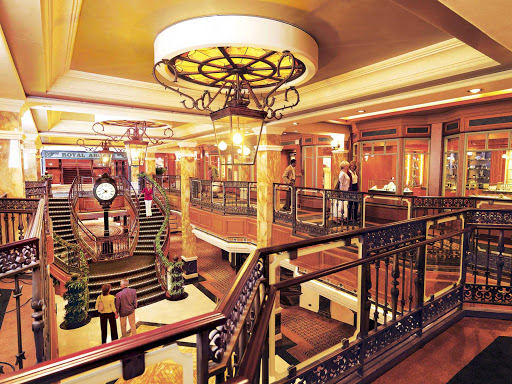 Cunard-Queen-Victoria-The-Royal-Arcade - Stroll down the Royal Arcade and browse its many fashion boutique shops while on Queen Victoria.