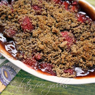 Gluten-Free Strawberry Rhubarb Crisp.