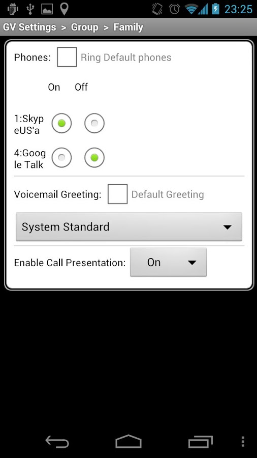 Locale GV Settings Plugin - screenshot