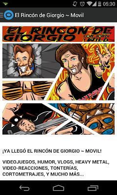 El Rincón de Giorgio ~ Movil - screenshot