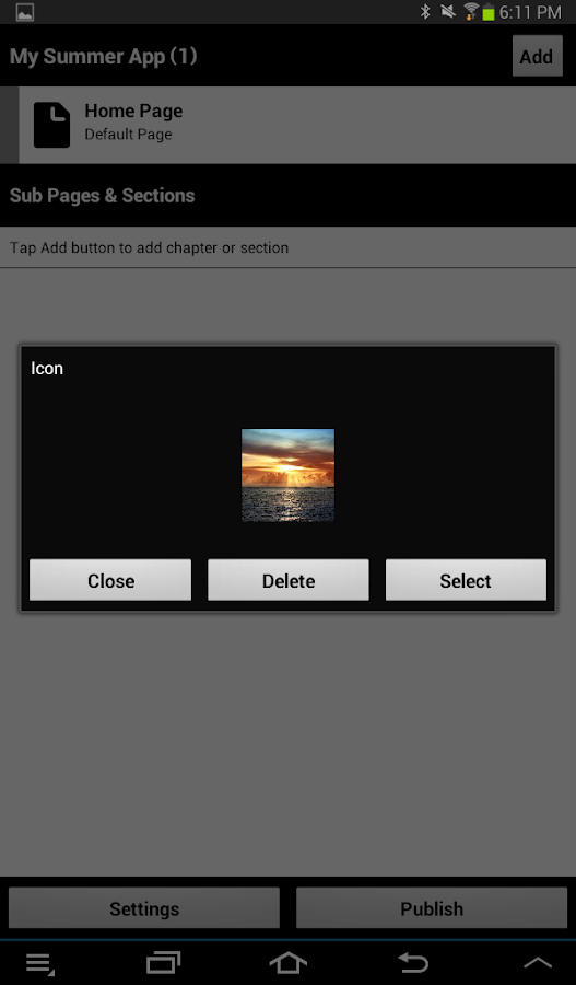 TouchAppCreator- screenshot