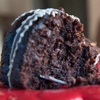EASY CHOCOLATE PECAN-COCONUT BUNDT CAKE.