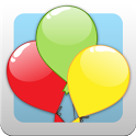 Kids balloon game: colours icon