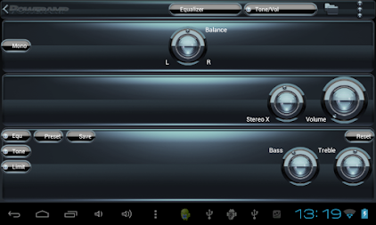 Poweramp skin Black Petrol APK screenshot thumbnail 10