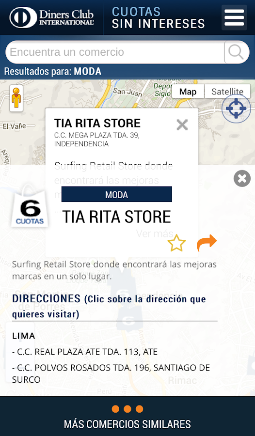 Diners Perú- screenshot