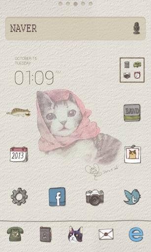 cat dodol launcher theme