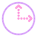 Scribbles Purple Analog Clock icon