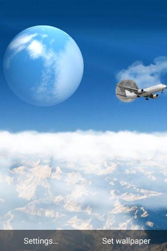蓝色的天空背景的动画