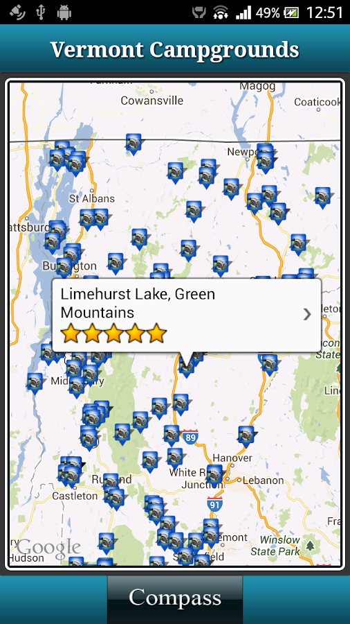 Vermont Campgrounds- screenshot
