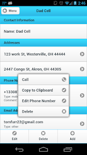 Ultimate Address Book- screenshot thumbnail