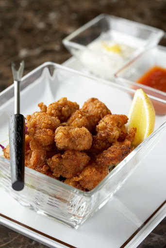 CEL_Tuscan_popcorn_shrimp - Tuscan Grille's popcorn shrimp available on your Celebrity cruise.