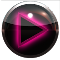 poweramp skin glow pink icon