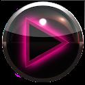 poweramp skin glow pink icon