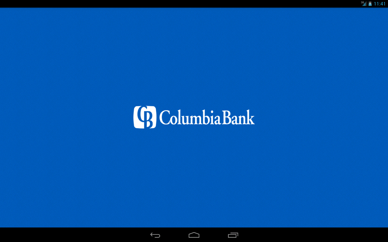 Columbia Bank Mobile Tablet- screenshot