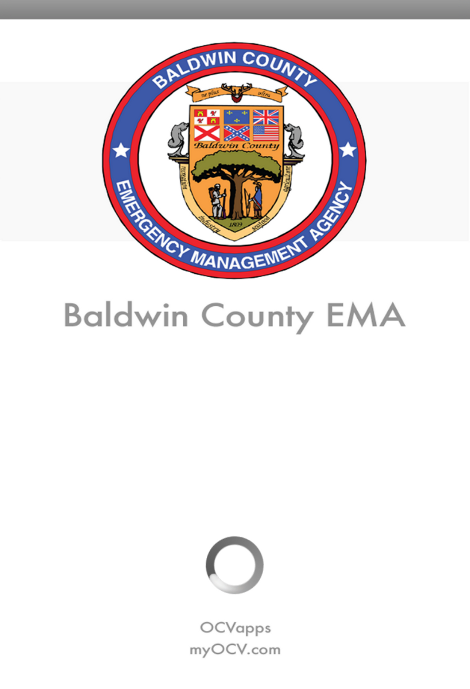 Baldwin County EMA App- screenshot