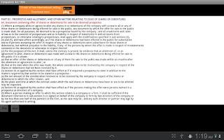 Screenshot of Companies Act 1956