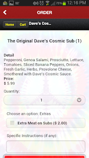 Dave's Cosmic Subs San Antonio- screenshot thumbnail