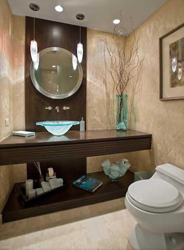 bathroom decorating modern