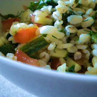 Herbed Barley Salad with Baby Kale Recipe