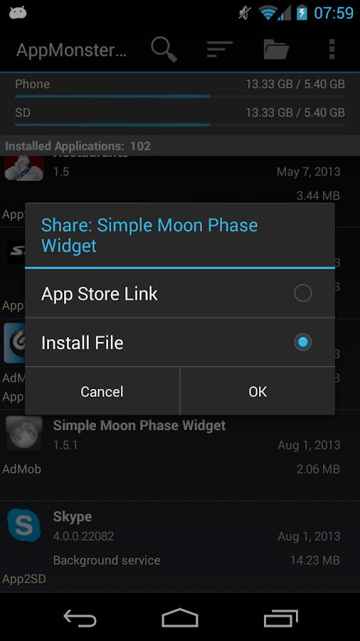 AppMonster Pro Backup Restore - screenshot
