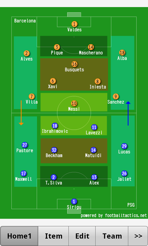 Football Tactics Android - screenshot