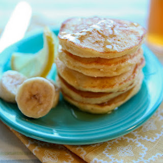 Banana Stuffed Pancakes with Honey Lemon Syrup