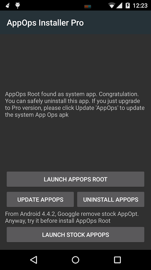 App Ops [Root]- screenshot