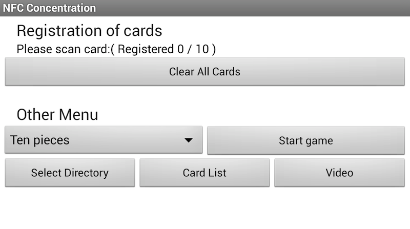 NFC Concentration- screenshot