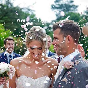 Jess & Chris's big day by Andrew Robinson - Wedding Bride & Groom ( wedding photography, confetti, bride, groom, Wedding, Weddings, Marriage )