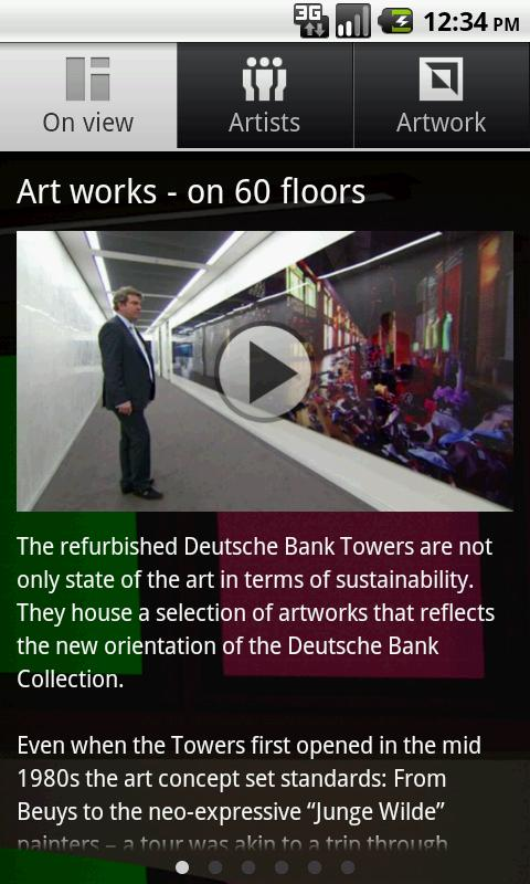 Deutsche Bank Art works - screenshot