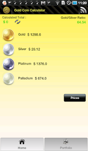 Gold Coin Price Calculator - screenshot thumbnail
