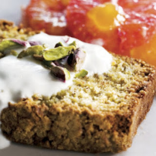Pistachio And Almond Cake With Orange Salad.