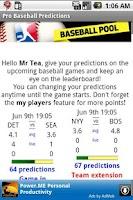 Screenshot of Pro Baseball Predictions