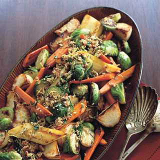 Roasted Vegetables with Pecan Gremolata.